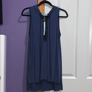 She and Sky tank top with Hoodie NWT